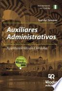 Libro de Auxiliares Administrativos Del Ayuntamiento De Córdoba. Test Del Temario