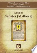 Libro de Apellido Sabater.(mallorca)
