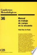 Libro de Manual De Trabajo De Campo En La Encuesta