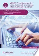 Libro de Implantación De Aplicaciones Web En Entornos Internet, Intranet Y Extranet. Ifcd0210