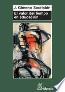 Libro de El Valor Del Tiempo En Educación