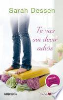 Libro de Te Vas Sin Decir Adiós