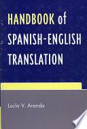 Libro de Handbook Of Spanish English Translation