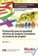 Libro de Promoción Para La Igualdad Efectiva De Mujeres Y Hombres En Materia De Empleo
