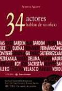 Libro de 34 Actores Hablan De Su Oficio