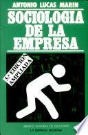 Libro de Sociología De La Empresa