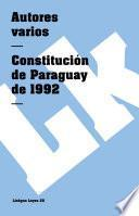 Libro de Constitución De Paraguay De 1992