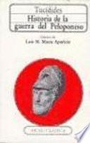 Libro de Historia De La Guerra Del Peloponeso