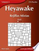 Libro de Heyawake Rejillas Mixtas   Fácil   Volumen 2   276 Puzzles