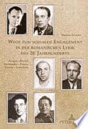 Libro de Wege Zum Sozialen Engagement In Der Romanischen Lyrik Des 20. Jahrhunderts