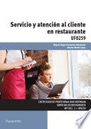Libro de Uf0259   Servicio Y Atención Al Cliente En Restaurante