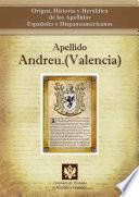 Libro de Apellido Andreu.(valencia)