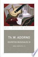 Libro de Escritos Musicales Vi