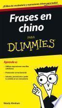Libro de Frases En Chino Para Dummies