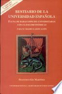 Libro de Bestiario De La Universidad Española