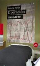 Libro de Operación Masacre