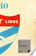 Libro de Constitución Cubana De 1940