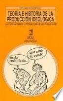 Libro de Teoría E Historia De La Producción Ideológica
