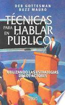 Libro de Técnicas Para Hablar En Público