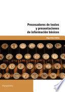 Libro de Procesadores De Textos Y Presentaciones De Información Básicos
