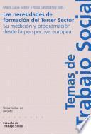 Libro de Las Necesidades De Formación Del Tercer Sector: Su Medición Y Programación Desde La Perspectiva Europea