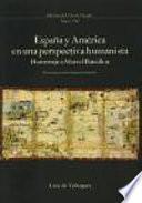 Libro de España Y América En Una Perspectiva Humanista