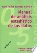 Libro de Manual De Análisis Estadísticos De Los Datos