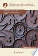 Libro de Preparación De Productos Específicos Para Acabados Decorativos. Mamr0208