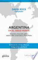 Libro de Argentina En El Siglo Veinte