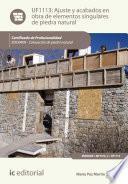 Libro de Ajuste Y Acabados En Obra De Elementos Singulares De Piedra Natural. Iexd0409