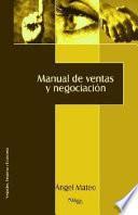 Libro de Manual De Ventas Y Negociación