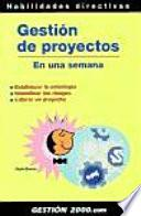 Libro de Gestión De Proyectos En Una Semana