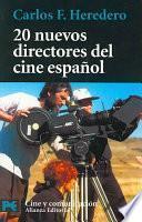 Libro de 20 Nuevos Directores Del Cine Español