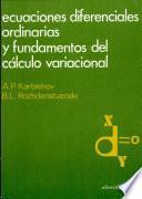 Libro de Ecuaciones Diferenciales Ordinarias Y Fundamentos Del Cálculo Variacional