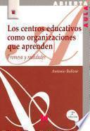 Libro de Los Centros Educativos Como Organizaciones Que Aprenden