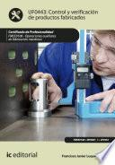 Libro de Control Y Verificación De Productos Fabricados. Fmee0108
