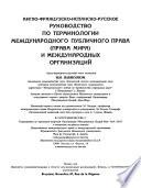 Libro de English French Spanish Russian Manual Of The Terminology Of Public International Law (law Of Peace) And International Organizations