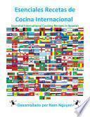 Libro de Recetas De Cocina Internacionales Esenciales En Español