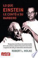 Libro de Lo Que Einstein Le Contó A Su Barbero