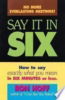 Libro de Say It In Six