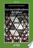 Libro de Las Incertidumbres Del Saber