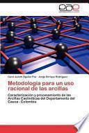 Libro de Metodología Para Un Uso Racional De Las Arcillas