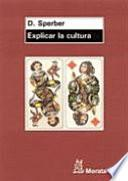 Libro de Explicar La Cultura