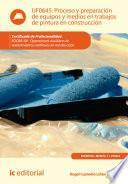 Libro de Proceso Y Preparación De Equipos Y Medios En Trabajos De Pintura En Construcción. Eocb0109