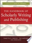 Libro de The Handbook Of Scholarly Writing And Publishing