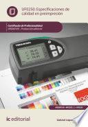 Libro de Especificaciones De Calidad En Preimpresión. Argn0109