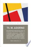 Libro de Escritos Musicales V