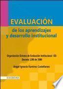 Libro de Evaluación De Los Aprendizajes Y Desarrollo Institucional