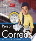 Libro de Personal Laboral. Correos. Test Y Simulacros De Examen