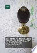 Libro de JosÉ Hierro:  La BiografÍa De Un PÁjaro Se Resume En Su Canto  Una PoÉtica Confirmada